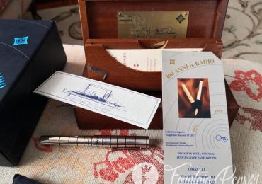 RARE OMAS 100 ANNI di RADIO MARCONI 95 ELETTRA Silver Sterling Fountain Pens Estilográfica Nib F