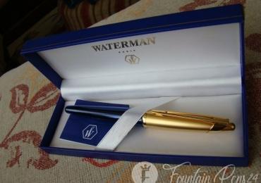 ¡¡ sold !!  Waterman Edson Sapphire Blue Gold GT Fountain Pen