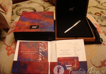 SOLD!!!    MONTBLANC SOLITAIRE MEISTERSTÜCK PLATINIM 149 PT 950 SOLID MODEL 12149 Fountain Pen