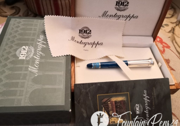 Montegrappa LIMITED EDITION CLASSICAL GREECE SILVER STERLING 925 FOUNTAIN PEN ESTILOGRAFICA NOT USED
