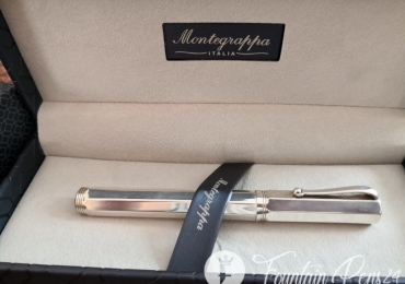 "Montegrappa Reminiscence Octagonal 925 Sterling Silver 1055 VI Fountain Pen Estilografica ""NEW"
