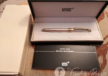 SOLD  !!!  Montblanc Meisterstuck Solitaire silver sterling 925 Fountain Pen Estilográfica