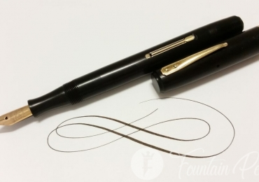 1930 Waterman's IDEAL black 92 flexible nib usa