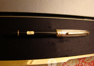 MONTBLANC MEISTERSTRUCK 1441 SOLITAIRE DOUÉ METAL 2 STERLING SILVER 925 FOUNTAIN PEN