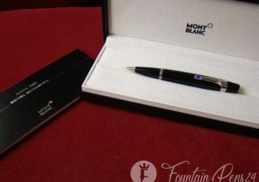 Montblanc Boheme Bleu Sapphire Stone Platinum ballpoint pen