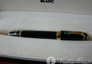 MONTBLANC BOHEME GREEN STONE FOUNTAIN PEN NIB F