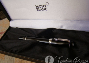 MONTBLANC BOHEME BLACK STONE Platinum FOUNTAIN PEN