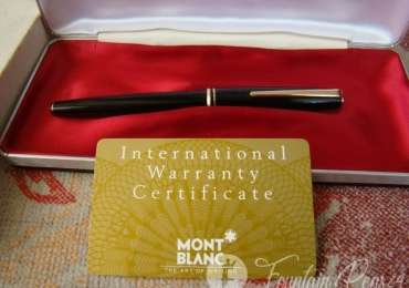 MONTBLANC CLASSIC BLACK and GOLD FOUNTAIN PEN