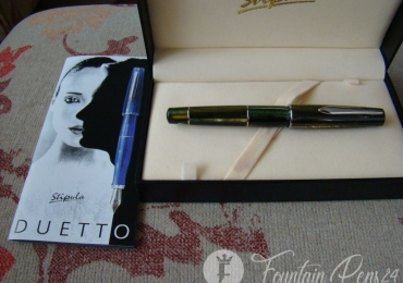 Stipula Duetto Seaweed Green A3935 Fountain Pen