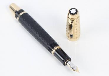 Fountain Pen MONTBLANC BOHEME DOUE BLACK GOLD RETRÁCTIL E341712
