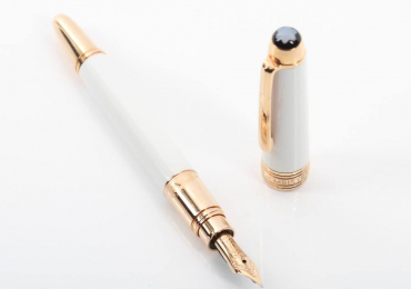 MINI MONTBLANC MEISTERSTÜCK SOLITAIRE RED GOLD COATED PEN E345634