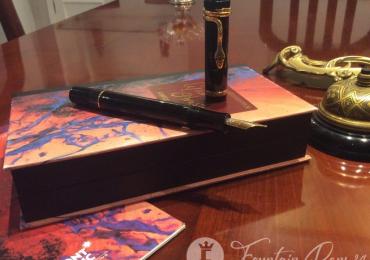 Pluma Estilográfica Montblanc Agatha Christie edición Vermeil, 4810 piezas.