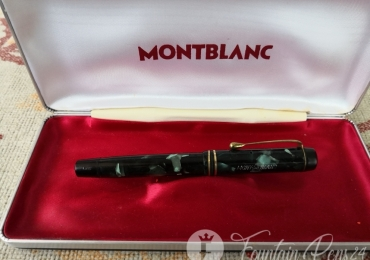 MONTBLANC 324 SimPlo Green Marbled Fountain Pen VINTAGE