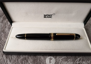 MONTBLANC MEISTERSTUCK 149 BLACK & GOLD Nib 18K FOUNTAIN PEN