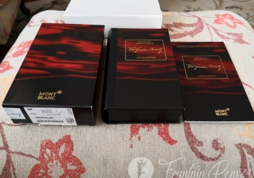 Montblanc writers edition Virginia Wolf Box and papers Only solo caja y librillo de la edición