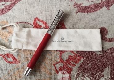 Graf Von Faber Castell Red Guilloche Fountain Pen pluma estilografica