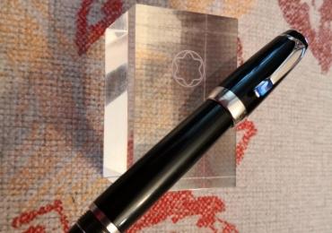 Montblanc boheme blue stone platinum fountain pen estilográfica