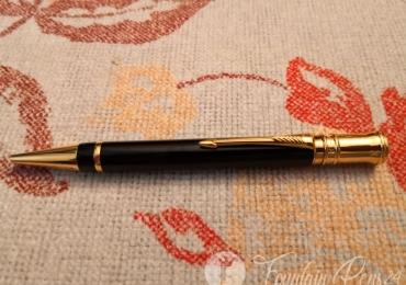 Parker Duofold Black & gold Made UK Ballpoint Pen bolígrafo NEW