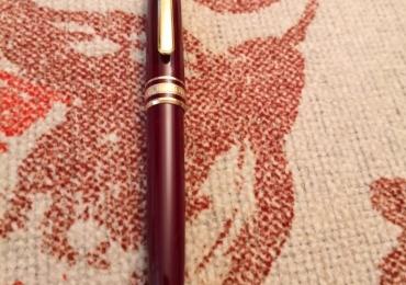 montblanc meisterstück ballpoint midsize burgundy & gold bolígrafo