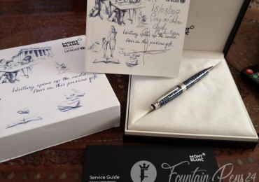 SOLD  !!!! Montblanc Meisterstück Unicef Solitaire Le Grand Ballpoint Pen 116085 «NEW»