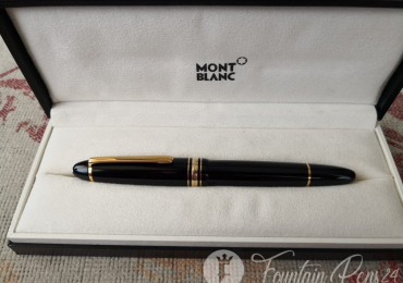 Vintage Montblanc Meisterstuck 146 LeGrand Fountain Pen Nib 14K Monotone ESTILOGRAFICA