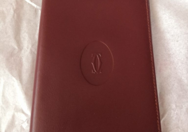 Cartier burgundi leather cartera billetero tarjetero burdeos 14×9 cm.
