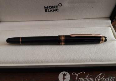 SOLD  !!!!      Montblanc Meisterstück 75th passion limited edition 1924 black and rose gold fountain pen estilográfica