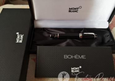 SOLD  !!!       Montblanc boheme platinum No Stone Fountain Pen Estilográfica