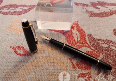 Montblanc meisterstuck 144 VINTAGE 80's fountain pen estilográfica nib monocolor