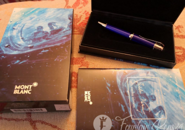 SOLD  !!!!       .MONTBLANC JULES VERNE writers limited edition fountain pen Nib F NEW estilografica
