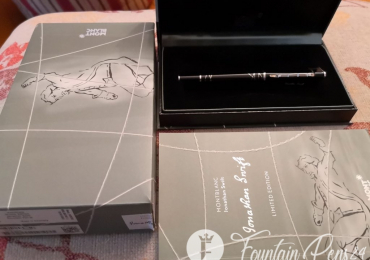 MONTBLANC JONATHAN SWIFT WRITERS LIMITED EDITION FOUNTAIN PEN Nib M NEW Estilográfica