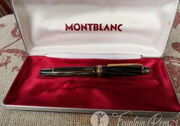SOLD  !!!      ..MONTBLANC MASTERPIECE 146 EF GREEN STRIATED Fountain Pen Nib 14C Estilográfica