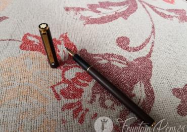Rare MONTBLANC SLIM LINE Fountain Pen Matte Brown Estilográfica