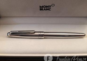 RARE Montblanc Meisterstück 144 solitaire PURE Silver Fountain Pen Estilográfica