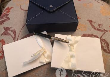 WATERMAN SET Karen Deluxe GT Dilver Sterling , Envelopes & Letters Cards
