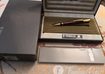PARKER DUOFOLD CENTENNIAL Red Marble Maroon mechanical Pencil Portaminas NEW