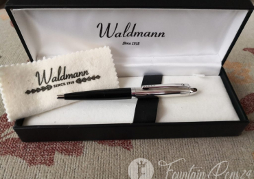 WALDMANN Solid Silver Sterling Pocket 12 cm Ballpoint Pen bolígrafo