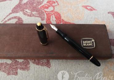 MONTBLANC MASTERPIECE Black Nib 14c Fountain Pen Estilográfica vintage