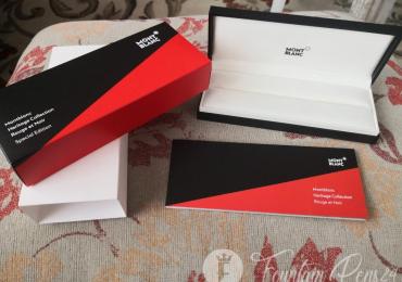 BOX Montblanc meisterstuck HERITAGE COLLECTION ROUGE ET NOIR Caja