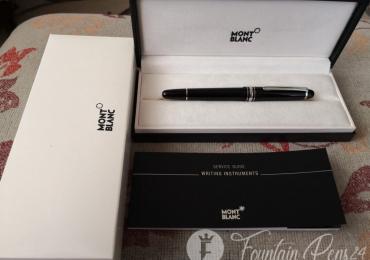 SOLD  / VENDIDA       .Montblanc Meisterstück 145 platinum fountain pen estilográfica