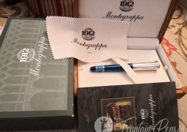 Montegrappa LIMITED EDITION CLASSICAL GREECE SILVER STERLING 925 FOUNTAIN PEN ESTILOGRAFICA