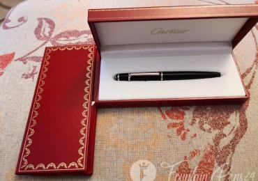 CARTIER Diabolo Black Platinum Ballpoint Pen bolígrafo