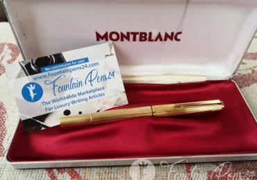 Montblanc vintage 1246 gold fountain pen estilográfica