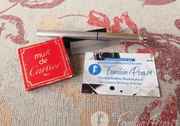 Vintage Cartier Vendome Santos Trinity fountain pen estilográfica + ink