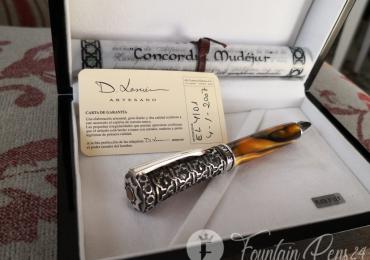 """SOLD / VENDIDO       ..RARE D. Lasuen """" CONCORDIA MUDEJAR"""" Limited Edition 500 u. Silver Sterling Fountain pen estilográfica"""