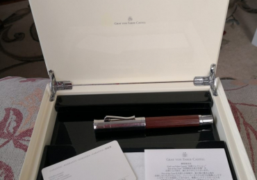 Graf Von Faber-castell 1761-2001 3 DIAMONDS WOOD Fountain Pen Magnum Limited Edition 240th Years estilografica Nib B