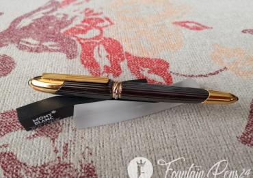 RARE CARTIER Cougar de Cartier Black Metal Onix & Gold 1990 Fountain Pen Estilográfica Nib M