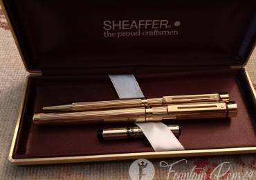 SET Sheaffer Targa 1005 Gold fountain pen Ballpoint Estilográfica Boligrafo N. O. S