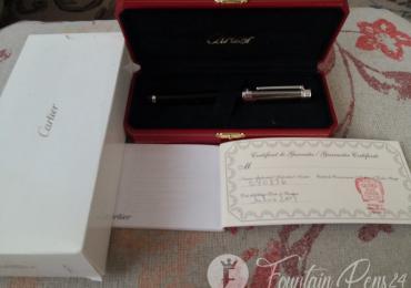 CARTIER PASHA BARCODE LACQUER CHINA BLACK Fountain Pen Estilográfica