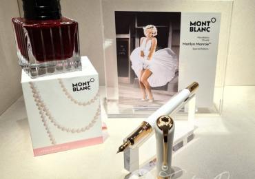 MONTBLANC Musas edición especial Marilyn Monroe 'Pearl' Estilografica con cartuchos. Fountain Pen